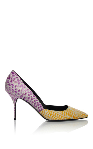 Medium pierre hardy purple yellow and purple classic pump