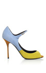 Trico Light Blue Bikini Pump by PIERRE HARDY for Preorder on Moda Operandi