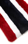 Striped Mink Scarf by KULE Now Available on Moda Operandi