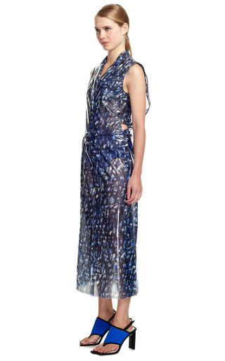 Lacquered Silk Scribble Skirt by KENZO for Preorder on Moda Operandi