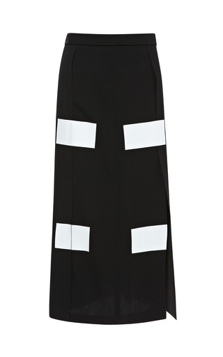 Medium kenzo black soft twill skirt
