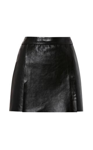 Medium kenzo black double face leather skirt