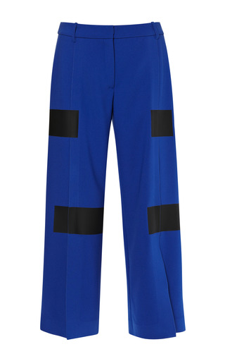 Medium kenzo blue double crepe pant 2