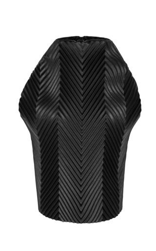 Medium j w anderson black black pleather herringbone top