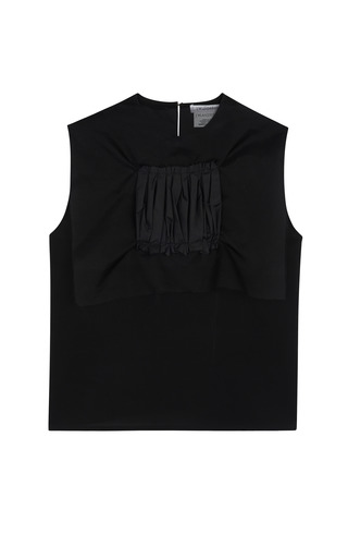 Black Lightweight Silk Telly Tank by J.W. ANDERSON for Preorder on Moda Operandi