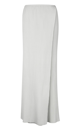 Medium j w anderson white off white leather crystal wrap skirt