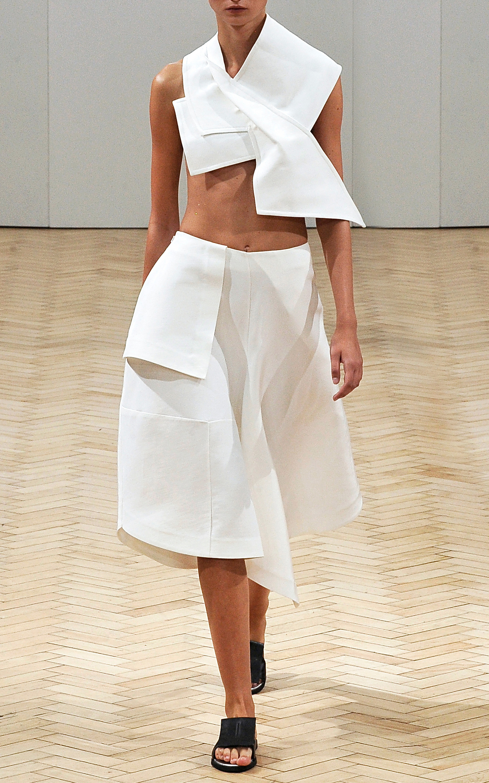 White Japanese Canvas Origami Skirt by JW Anderson | Moda ... - photo#37