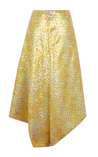 Medium j w anderson yellow yellow sequin drape skirt