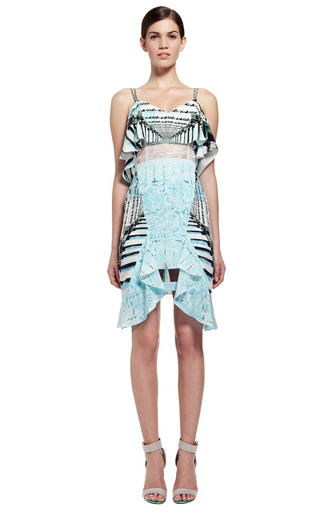 Lace Cascade Dress by PETER PILOTTO for Preorder on Moda Operandi