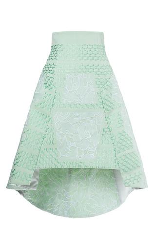 Medium peter pilotto light green embroidered aerial skirt 4