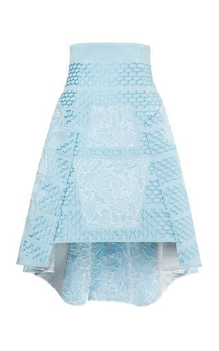 Medium peter pilotto blue embroidered aerial skirt