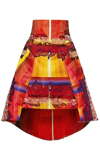 Medium peter pilotto orange lace horizon skirt
