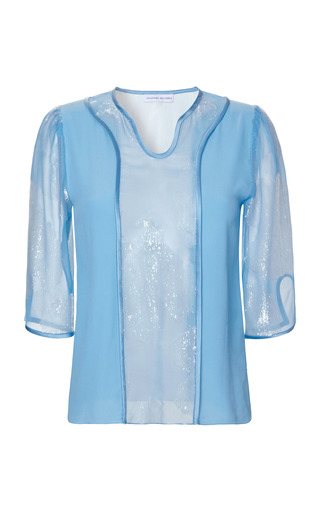 Medium jonathan saunders blue bettina blouse