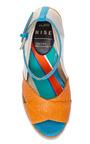 Ingvar Orange Platform Sandal by OSTWALD HELGASON for Preorder on Moda Operandi