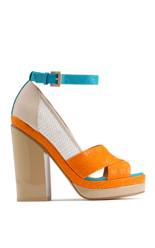 Medium ostwald helgason multi ingvar orange platform sandal