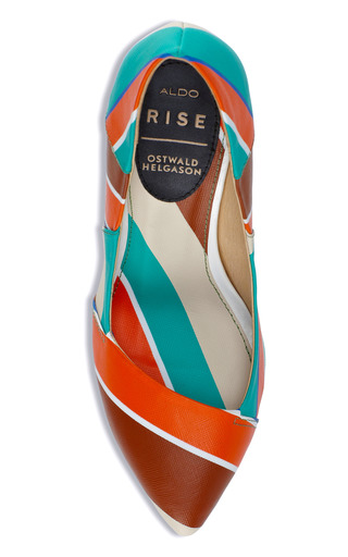 Orange Lyndi Pump by OSTWALD HELGASON for Preorder on Moda Operandi