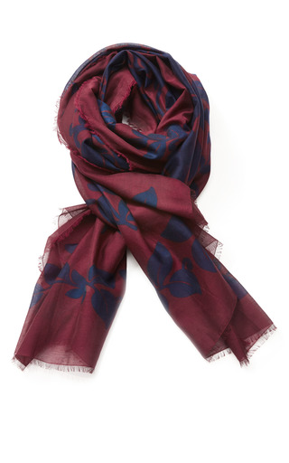 Printed Cotton And Silk Scarf by MARC JACOBS Now Available on Moda Operandi