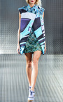 Selofane Sleeveless Biker Coat by MARY KATRANTZOU for Preorder on Moda Operandi
