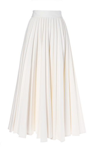 Medium emilia wickstead white pleated skirt