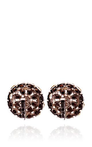 Vintage Trifari Rhinestone Flower Earrings by HOUSE OF LAVANDE Now Available on Moda Operandi