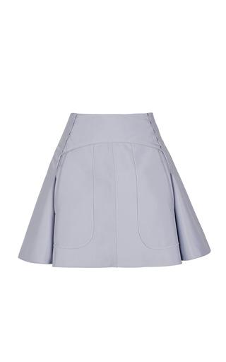 Medium nina ricci blue technical cotton skirt