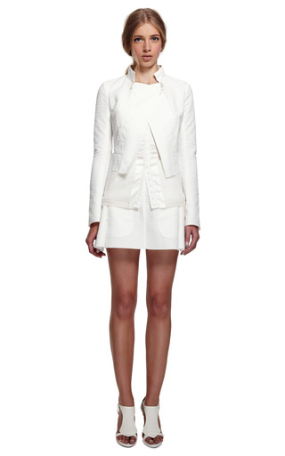 Lace And Cashmere Sweater by NINA RICCI for Preorder on Moda Operandi