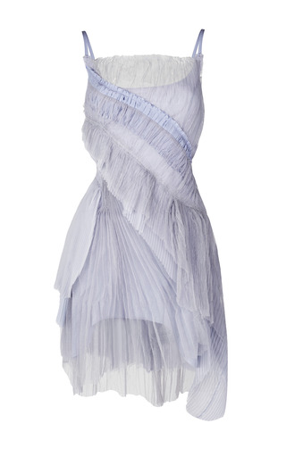 Medium nina ricci blue pleated chiffon dress