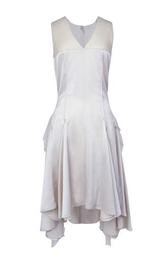 Medium nina ricci white satin dress