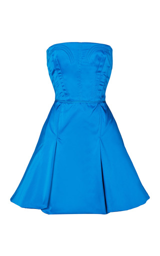 Medium nina ricci blue duchess satin party dress