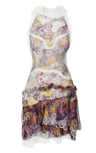 Medium nina ricci print embroidered printed chiffon dress