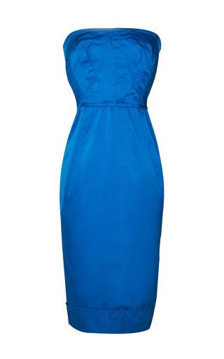 Medium nina ricci blue duchess satin dress