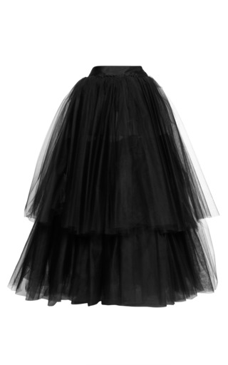 Medium martin grant black layered tulle skirt