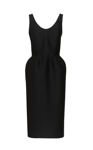 Medium martin grant black bather back tulip dress