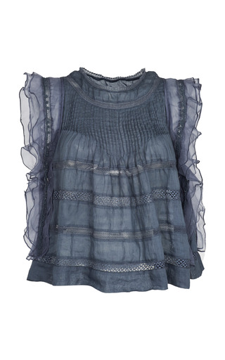 Medium isabel marant dark grey slate blue ojima top