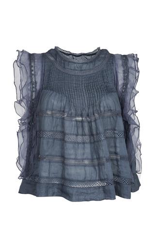 Medium isabel marant dark grey slate blue ojima top