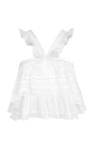 Medium isabel marant white white oletta top