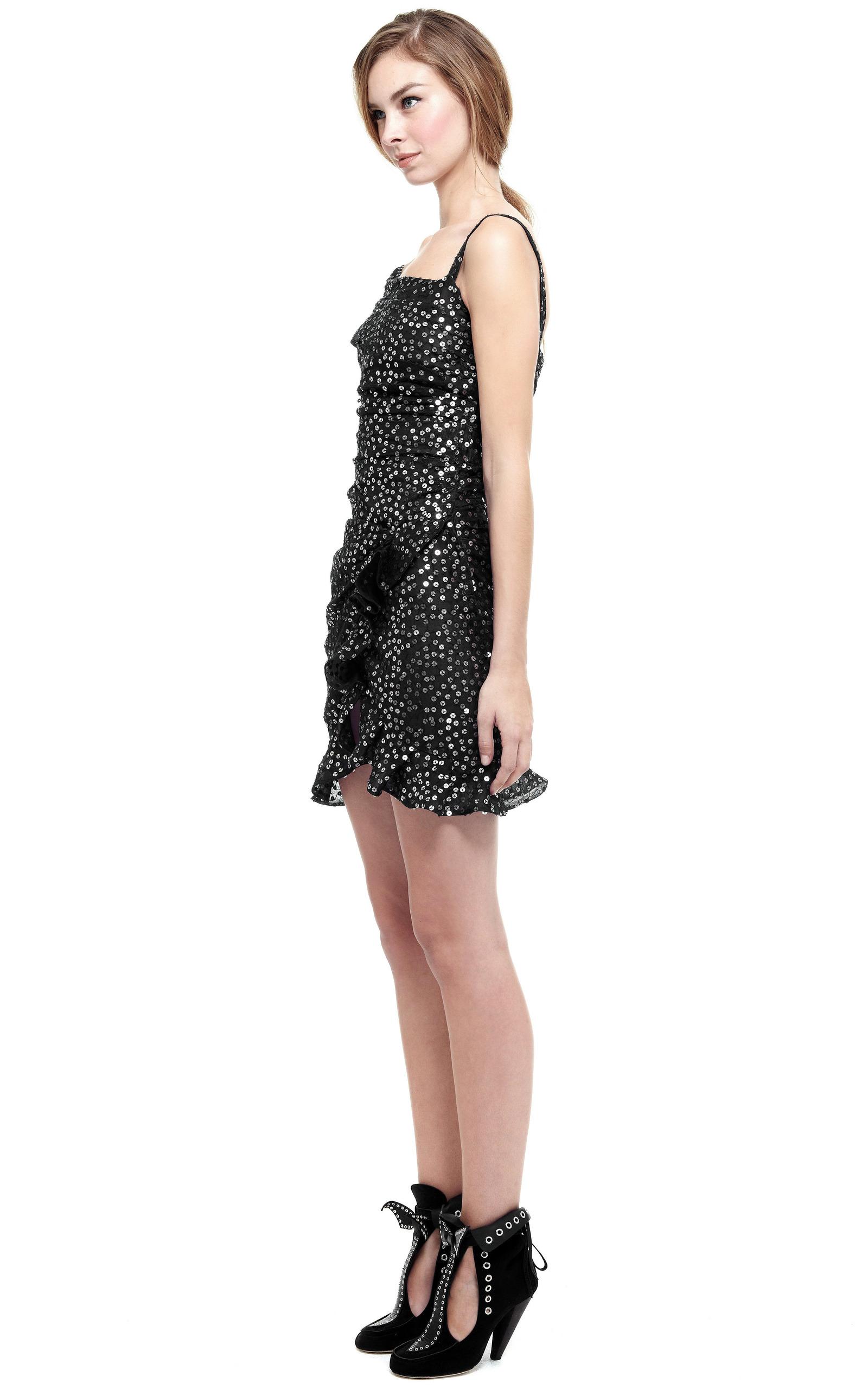 silver becky dress by marant moda operandi