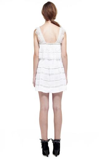 White Obira Dress by ISABEL MARANT for Preorder on Moda Operandi