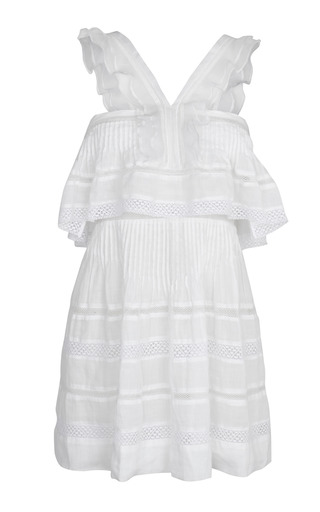 Medium isabel marant white white obira dress