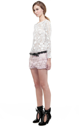 Light Pink Gustave Short by ISABEL MARANT for Preorder on Moda Operandi