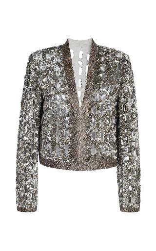 Medium isabel marant brown ecru glowy jacket