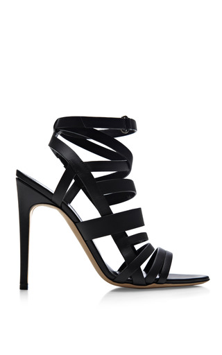 Medium rupert sanderson black mo exclusive antonio berardi tallyho leather sandals