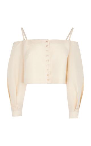 Medium vika gazinskaya brown shoulder strap cropped top