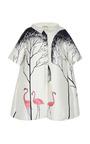 Blouson Dress With Flamingo Tree Pattern by VIKA GAZINSKAYA for Preorder on Moda Operandi