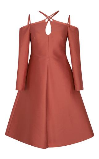 Medium vika gazinskaya pink fitted decolette shoulder strap dress