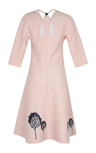 A Line Dress Decorated With Trees Applique by VIKA GAZINSKAYA for Preorder on Moda Operandi