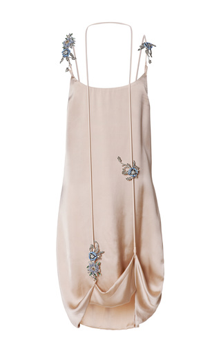 Medium christopher kane nude double croc lift hem gems cami dress