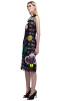 Black Across Arrow Embroidered Dress by CHRISTOPHER KANE for Preorder on Moda Operandi