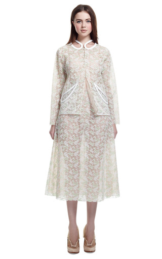 Plasma Lace Petal Jacket by CHRISTOPHER KANE for Preorder on Moda Operandi