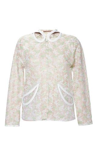 Medium christopher kane light green plasma lace petal jacket